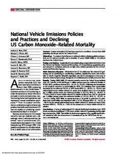 National Vehicle Emissions Policies and Practices ...
