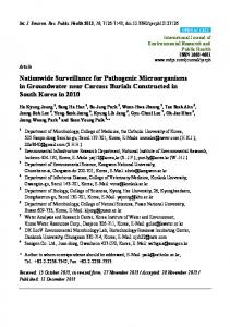 Nationwide Surveillance for Pathogenic Microorganisms in ... - MDPI