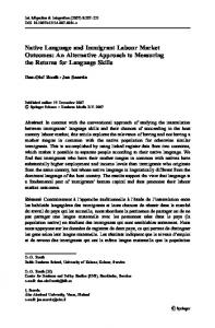 Native Language and Immigrant Labour Market Outcomes - CiteSeerX