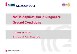 NATM Applications in Singapore Ground Conditions