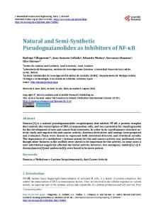 Natural and Semi-Synthetic Pseudoguaianolides as ...