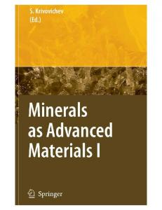 Natural and Synthetic Minerals
