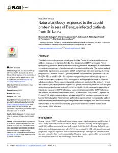 Natural antibody responses to the capsid protein in ... - Semantic Scholar