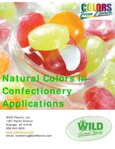 Natural Colors in Confectionery Applications - Food Processing