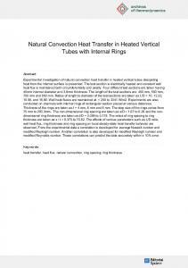 Natural Convection Heat Transfer in Heated Vertical