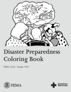 Natural Disaster Preparedness Coloring Book