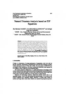 Natural Disasters Analysis based on IDF Equations