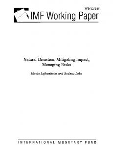 Natural Disasters - IMF