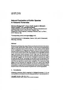 Natural Fluctuation of Sulfur Species in Volcanic