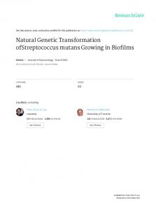 Natural Genetic Transformation ofStreptococcus