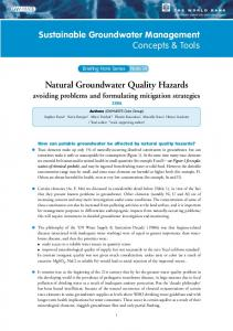 Natural Groundwater Quality Hazards - IGRAC