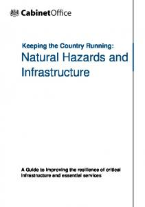 Natural Hazards and Infrastructure - Gov.uk