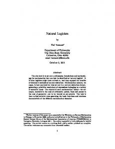 Natural Logicism - Mathematical Association of America