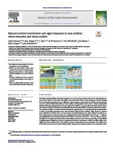 Natural nutrient enrichment and algal responses in near pristine micro ...