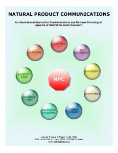 Natural Product Communications 2014