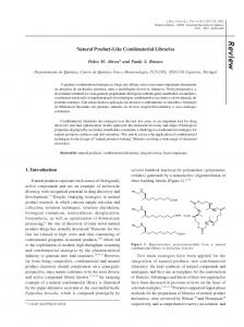 Natural Product-Like Combinatorial Libraries