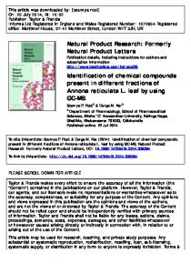 Natural Product Research: Formerly Natural Product
