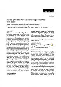 Natural products: New anti-cancer agents derived