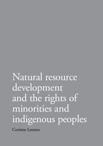 Natural resource development and the rights of minorities and ...