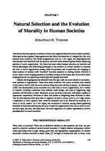 Natural Selection and the Evolution of Morality in Human Societies ...