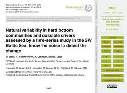 Natural variability in hard bottom communities