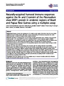Naturally-acquired humoral immune responses ... - BioMedSearch