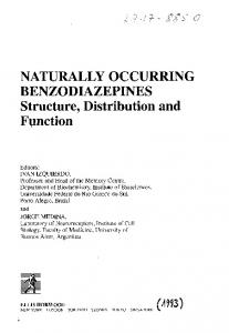 NATURALLY OCCURRING BENZODIAZEPINES Structure ... - GBV