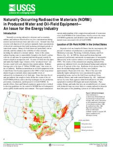 Naturally Occurring Radioactive Materials (NORM) in ... - USGS