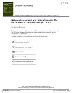 Nature, development and national identity: The ...