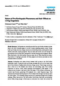 Nature of Pre-Earthquake Phenomena and their Effects on ... - CiteSeerX