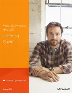 NAV 2015 Licensing Guide