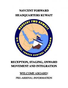 navcent forward headquarters kuwait reception, staging, onward ...