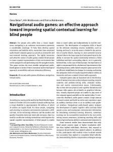 Navigational audio games: an effective approach ...