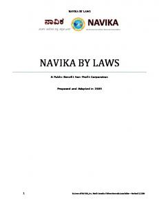 NAVIKA BY LAWS