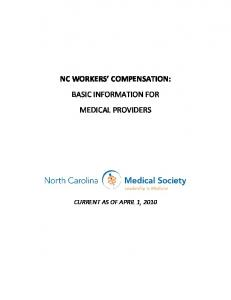 nc workers' compensation - North Carolina Medical Society