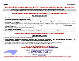 nc workers' compensation notice to injured workers and employers