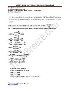 NCERT/CBSE MATHEMATICS CLASS 11 textbook ( ) ( ) ( ) ( ) ( ) ( ) ( )