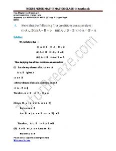 NCERT/CBSE MATHEMATICS CLASS 11 textbook - TutorBreeze.com