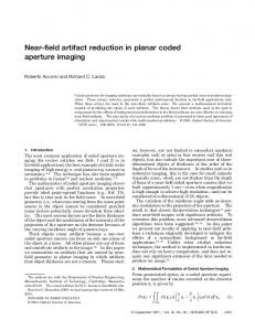 Near-field artifact reduction in planar coded aperture ... - OSA Publishing