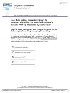 Near-field optical characteristics of Ag nanoparticle