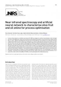 Near infrared spectroscopy and artificial neural ... - SAGE Journals