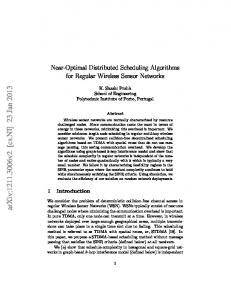 Near-Optimal Distributed Scheduling Algorithms for Regular Wireless