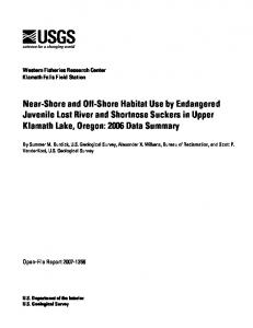 Near-Shore and Off-Shore Habitat Use by Endangered Juvenile Lost ...