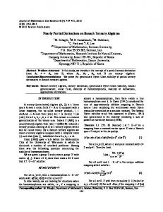Nearly Partial Derivations on Banach Ternary Algebras - Science