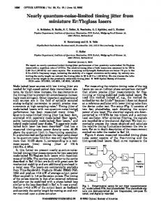 Nearly quantum-noise-limited timing jitter from miniature Er:Yb:glass ...