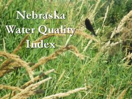 Nebraska Water Quality Index