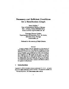 Necessary and Sufficient Conditions for a