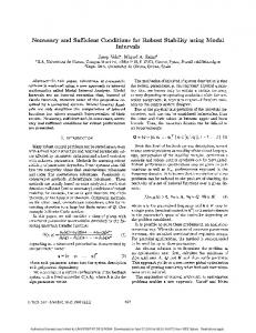 Necessary and sufficient conditions for robust