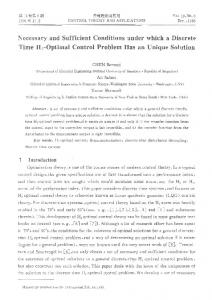 Necessary and Sufficient Conditions under which a ...