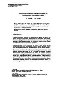 Necessary and Sufficient Optimality Conditions for Nonlinear Fuzzy ...